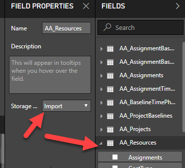 Power BI – Changing Storage Modes (ie  changing from Direct